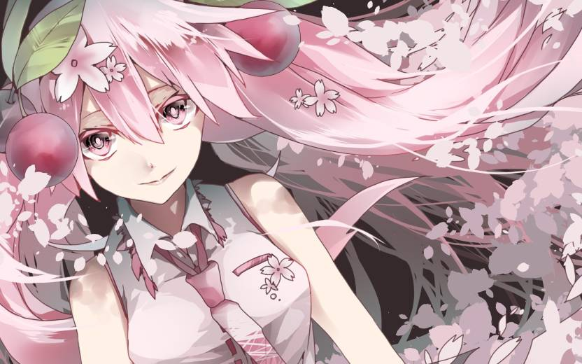 Athah Anime Vocaloid Sakura Miku Hatsune 1319 Inches Wall Poster Matte Finish Paper