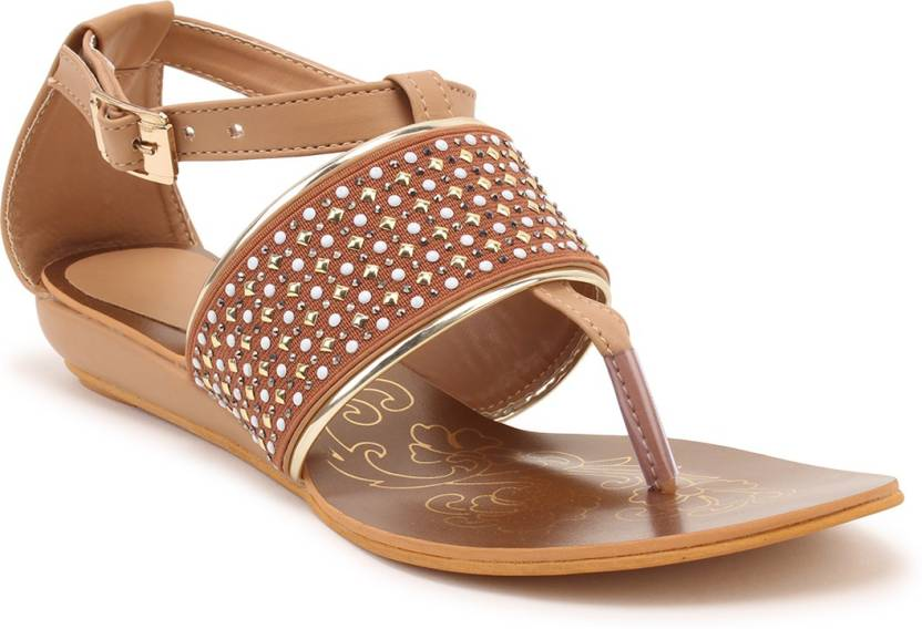 d52cf6fe6fff STEPEE Women Tan Flats - Buy STEPEE Women Tan Flats Online at Best ...