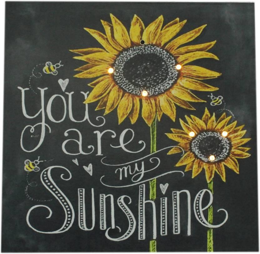 Avmart You Are My Sunshine Quote Black Wooden Chalk Board