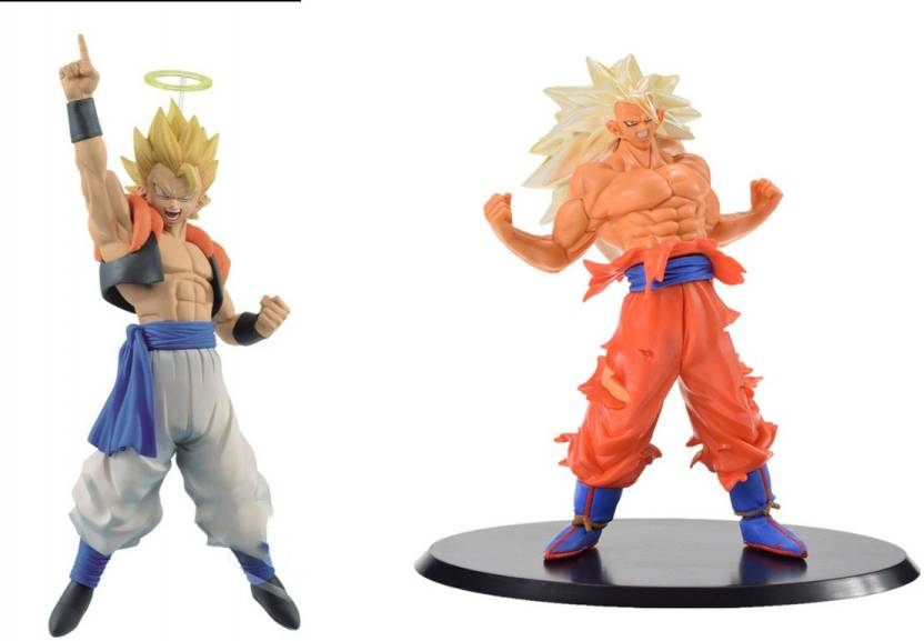 1de6905d0d834 imodish Dragon Ball Z DBZ Set Of 2 Pcs. Gogeta And Goku White Hair Ultra  Instinct With Stand (Multicolor)