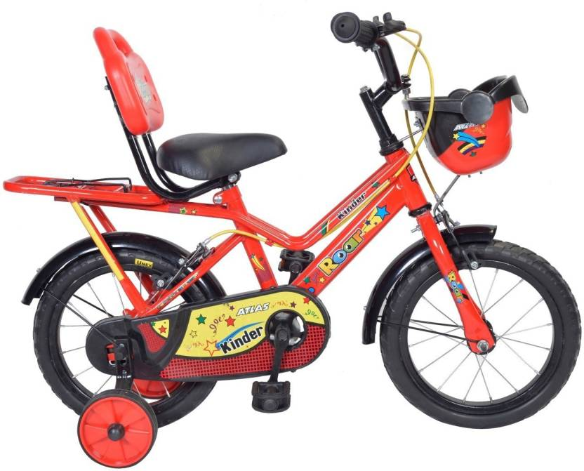 Atlas Kinder Bicycle For Kids Of Age 2 5yrs Red Black 14 T