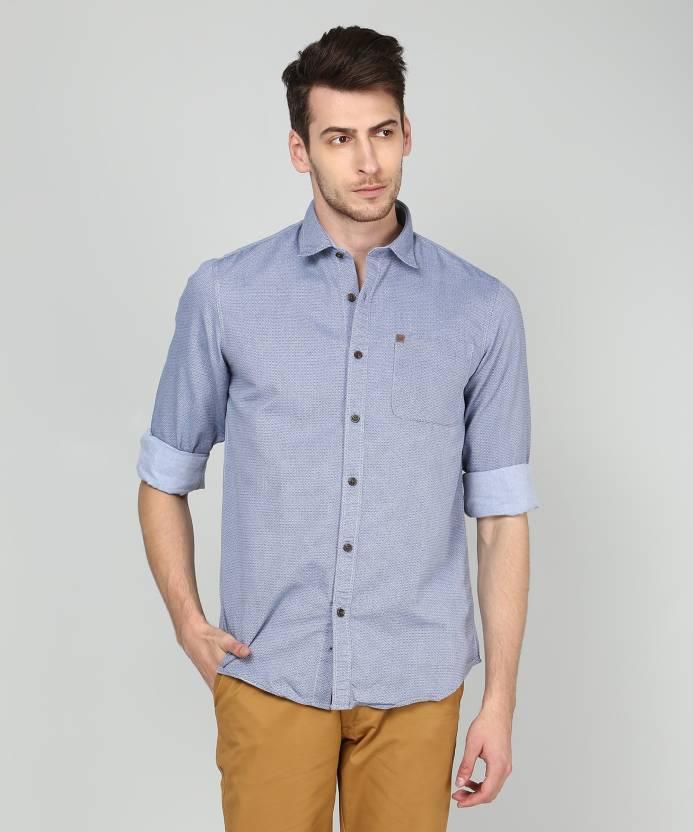 c8bddd2bb Arrow Jeans Men Printed Casual Light Blue Shirt - Buy Arrow Jeans ...