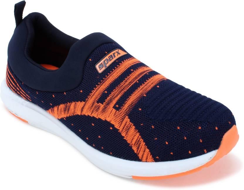 767fe8a9897e Sparx Men SM-376 Navy Blue Fluorescent Orange Walking Shoes For Men (Navy