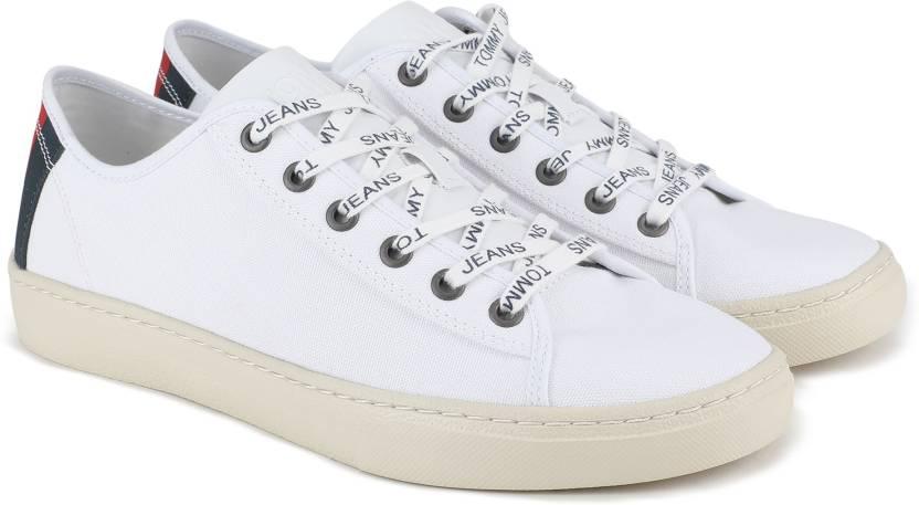 b002059d0cf3 Tommy Hilfiger TOMMY JEANS LIGHT TEXTILE LOW MEN Canvas Shoe For Men (White)