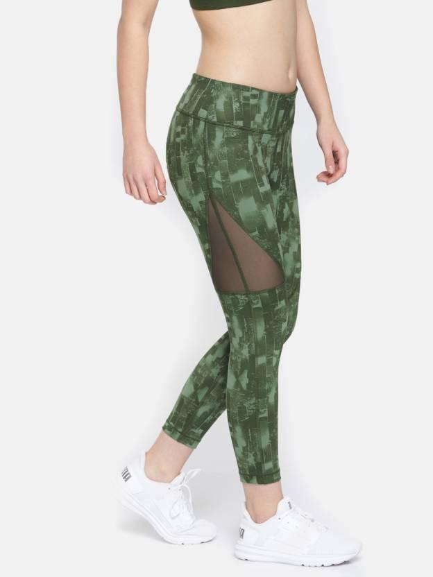 9a7d1264d2a Puma Solid Women s Green Tights - Buy Puma Solid Women s Green ...