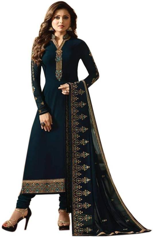 9e4ffc30a90 MR CROZY Faux Georgette Embroidered Semi-stitched Salwar Suit Dupatta  Material Price in India - Buy MR CROZY Faux Georgette Embroidered Semi-stitched  Salwar ...