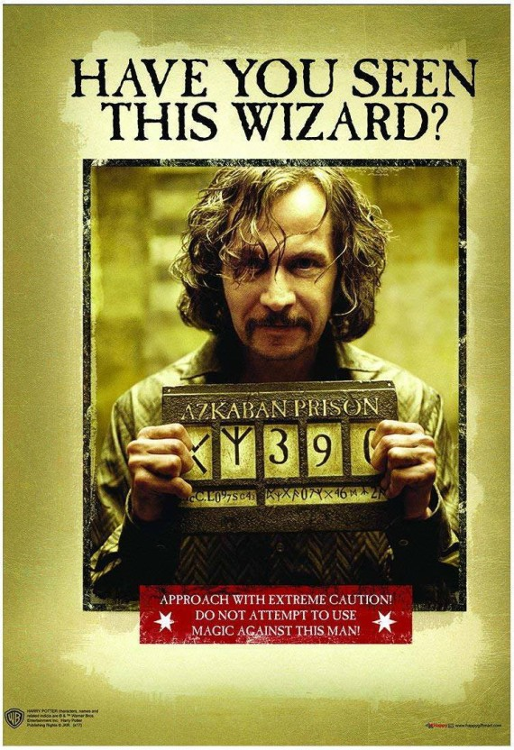 photograph regarding Have You Seen This Wizard Printable titled WB Formal Accredited Harry Potter Sirrus Black Consist of By yourself Discovered