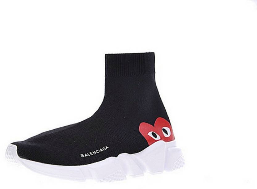 056ea06130e Balenciaga X CDG Speed Trainer Limited Edition Sneakers For Men (Black)