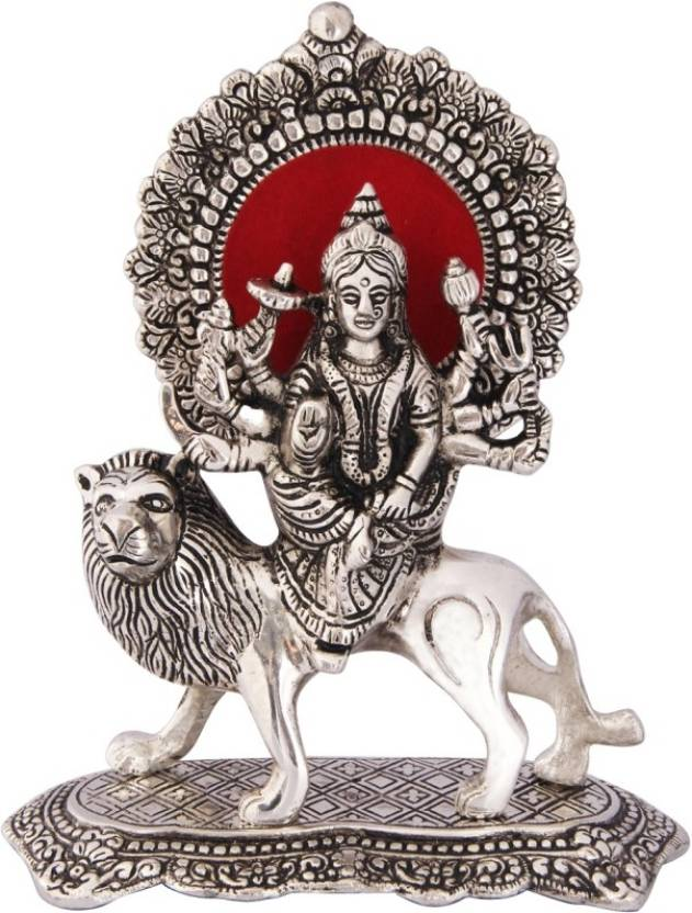 Handicrafts Paradise Durga Maa On Lion In Metal By Handicrafts