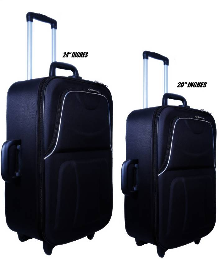 20d0e22b21 Nuremberg Suitcase Trolley  Travel  Tourist Bag Check-in Luggage - 24 inch  (Black)