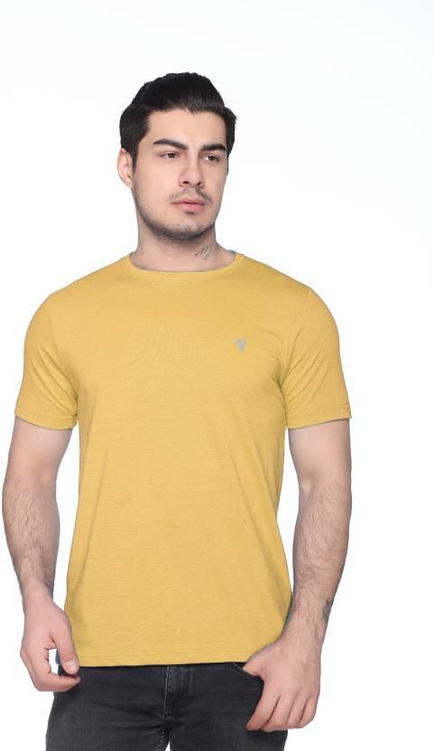 a1c4698efa9f47 Black Buck Solid Men & Women Round Neck Yellow T-Shirt - Buy Black Buck  Solid Men & Women Round Neck Yellow T-Shirt Online at Best Prices in India  ...