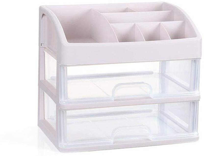 best website 46dae fc62b House of Quirk 2 Layer Makeup Storage Box Cosmetic Organizer ...