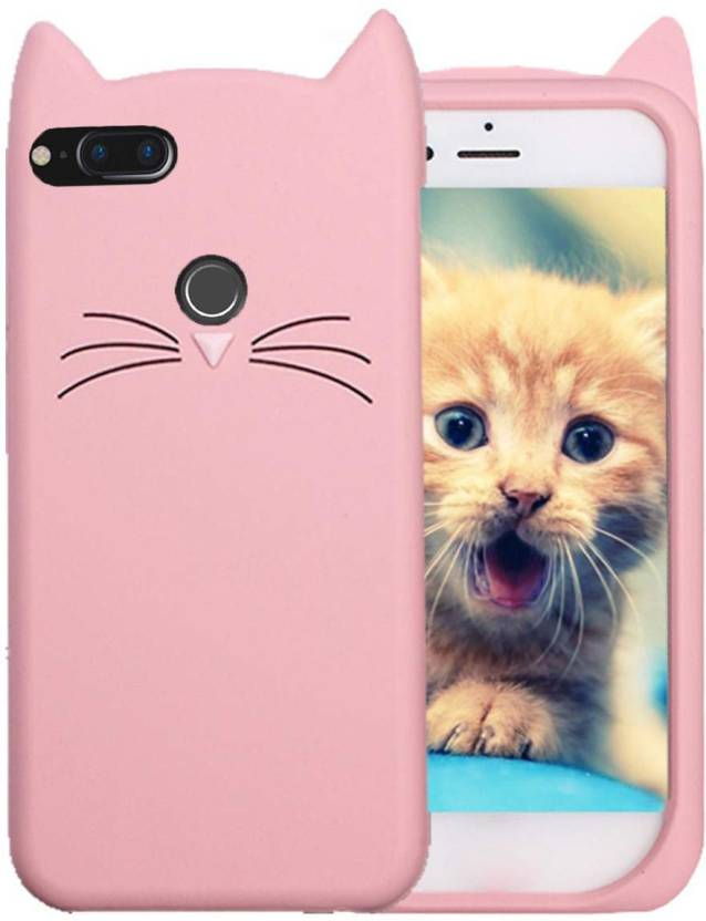 huge discount 14270 d19d7 AM7 Back Cover for Stylish Cat Silicon Case Soft Back Cover for-MI ...