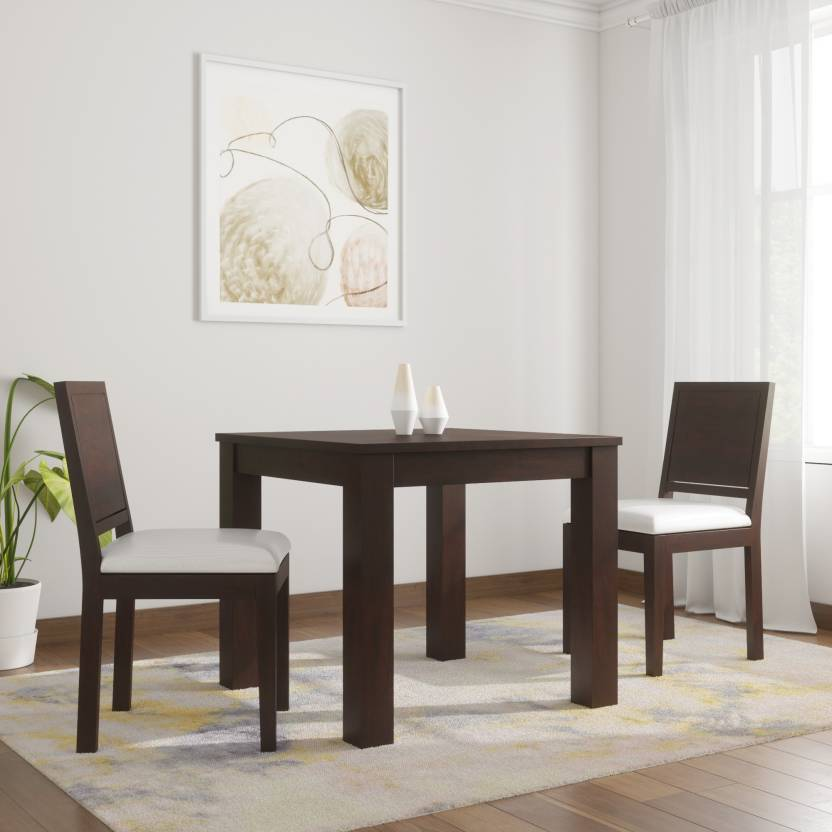 1ce2efa34ea Induscraft Arabia Upholstered Sheesham Solid Wood 2 Seater Dining Set  (Finish Color - Brown)