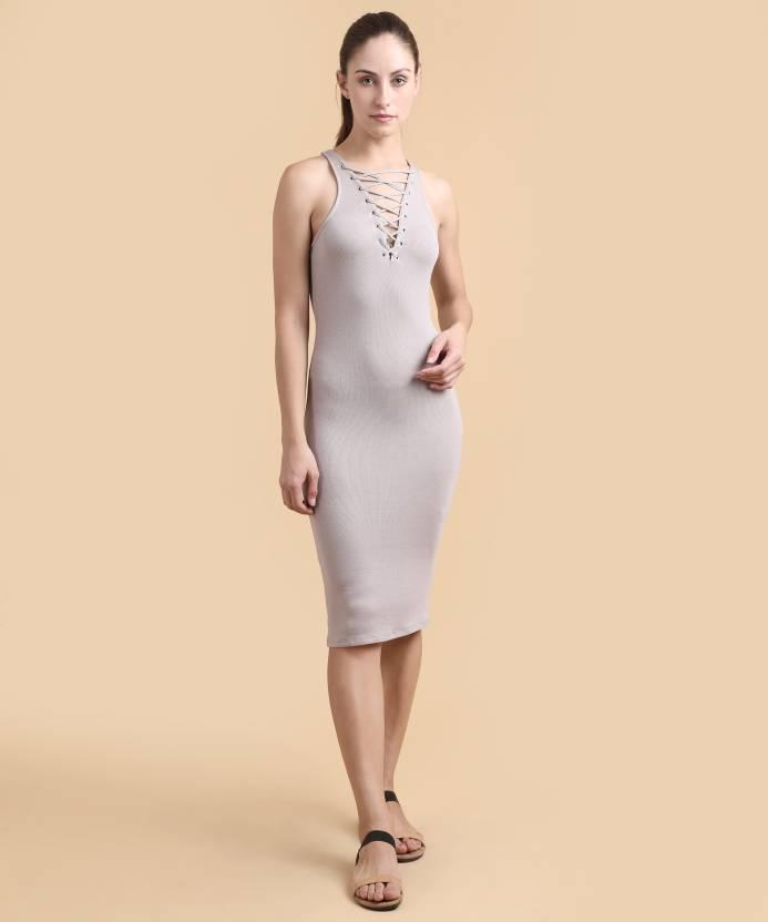 f476facd9361 Forever 21 Women's Sheath Grey Dress - Buy TAUPE Forever 21 Women's Sheath Grey  Dress Online at Best Prices in India | Flipkart.com
