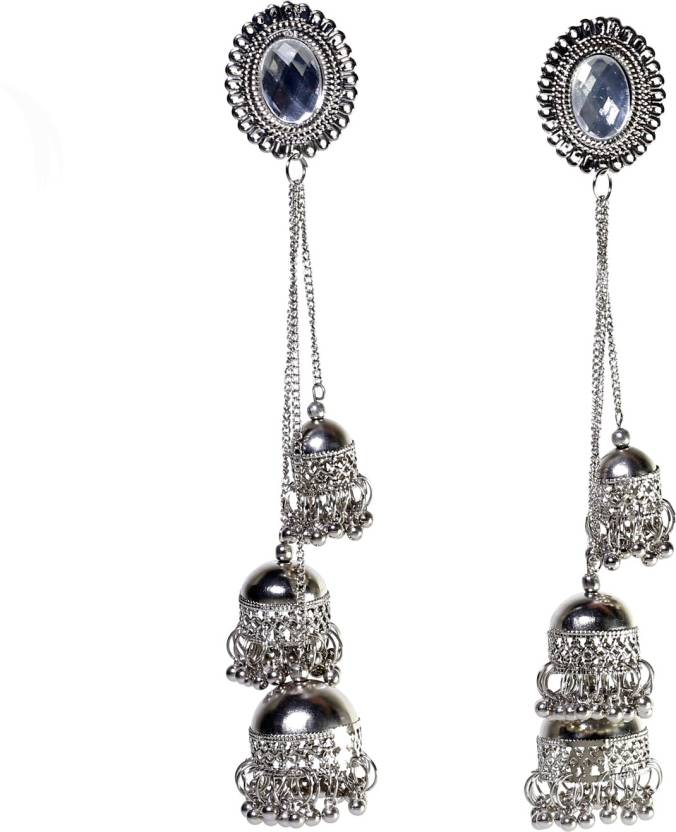 bd2e4bca5 Flipkart.com - Buy prasi style Prasi afghani kashmiri tribal oxidised alloy jhumki  earring Alloy Jhumki Earring Online at Best Prices in India