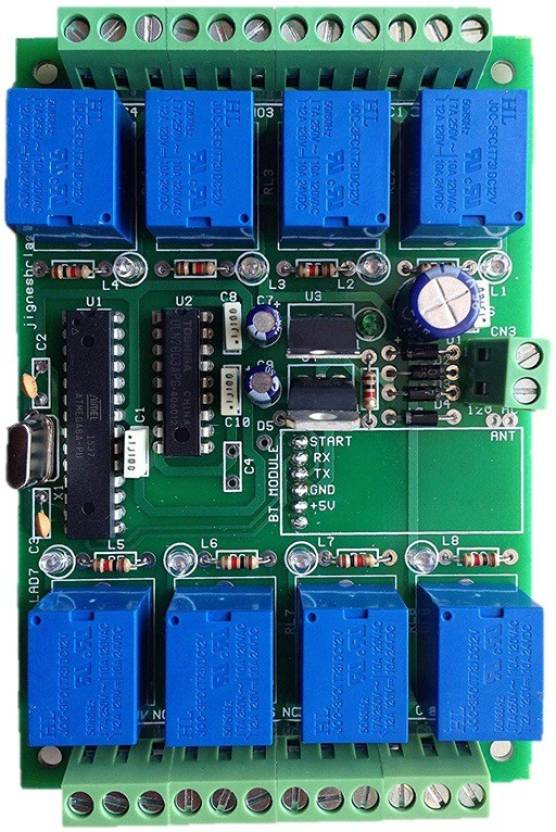 jr electrokits Bluetooth 8 Channel Relay Control Board with