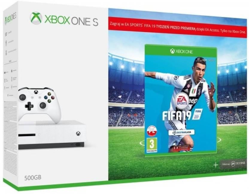 Microsoft Xbox One S Console 500GB with FIFA 19 Price in India - Buy