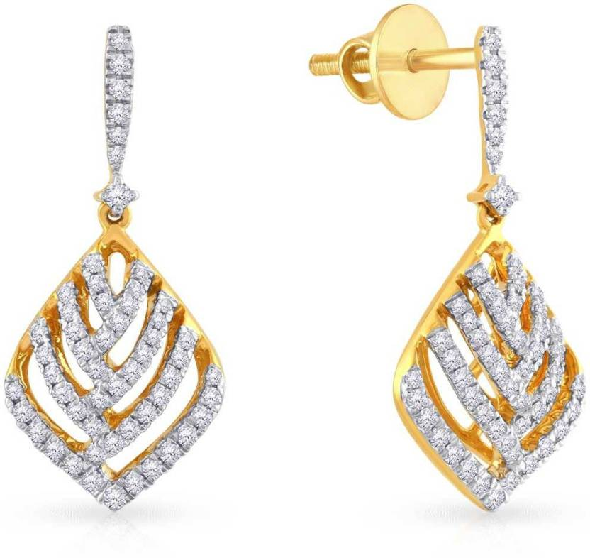 0c1e9cac28bf3 Malabar Gold and Diamonds UIER39646_Y_SI-GH Yellow Gold 18kt Diamond ...