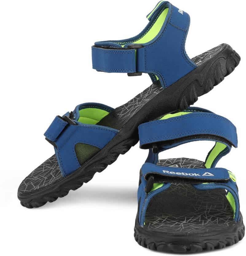 2d5f30d2e50dc Reebok clearance prices be9f1 d1c59  REEBOK Men BUNKER BLUE NEON YELLOW  Sports Sandals promo code 70fa9 5dff4 ...