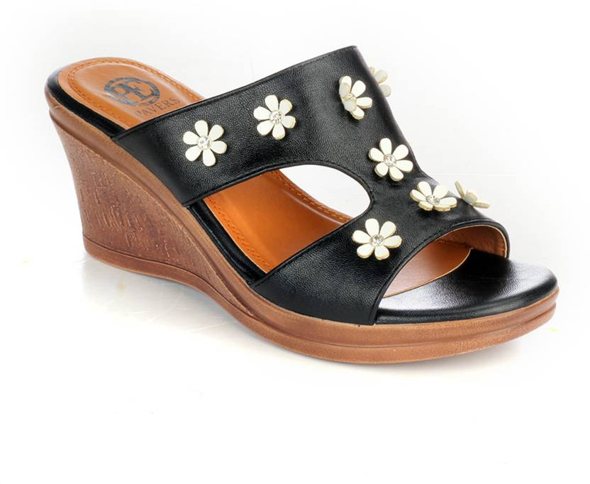 c358297075 Pavers England Women BLACK Wedges - Buy Pavers England Women BLACK Wedges  Online at Best Price - Shop Online for Footwears in India | Flipkart.com