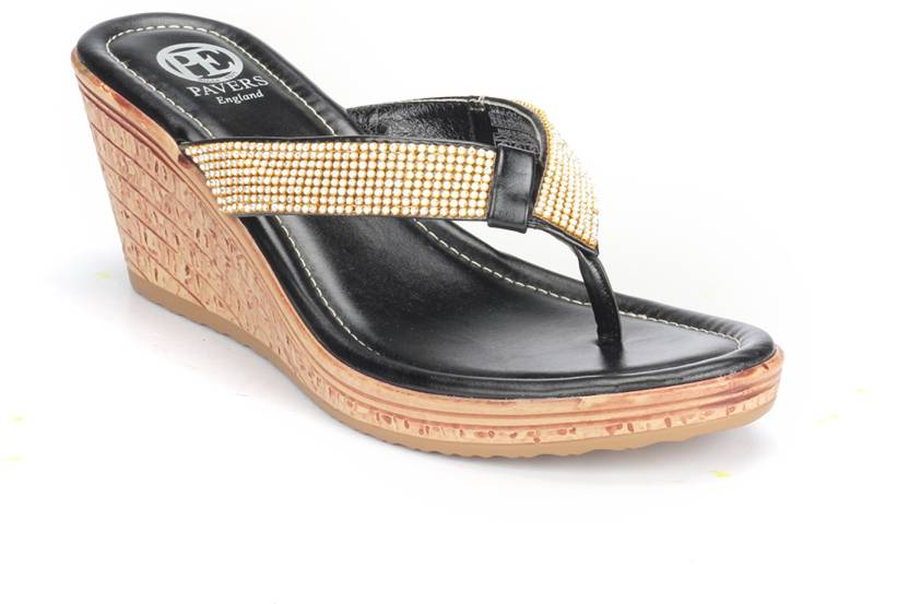 5cc855b34828 Pavers England Women BLACK Wedges - Buy Pavers England Women BLACK Wedges  Online at Best Price - Shop Online for Footwears in India