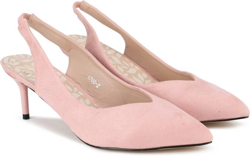 7df6925ed8db Cara Mia Women PINK Heels - Buy PINK Color Cara Mia Women PINK Heels Online  at Best Price - Shop Online for Footwears in India