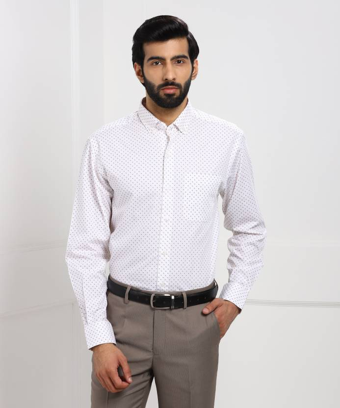 f3f4b521e61 John Players Men's Printed Formal White Shirt