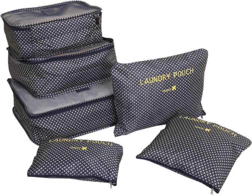 9c68a57e7fa6 Kuber Industries 6 Pieces Travelling Mesh Laundry Pouch/Cloth ...