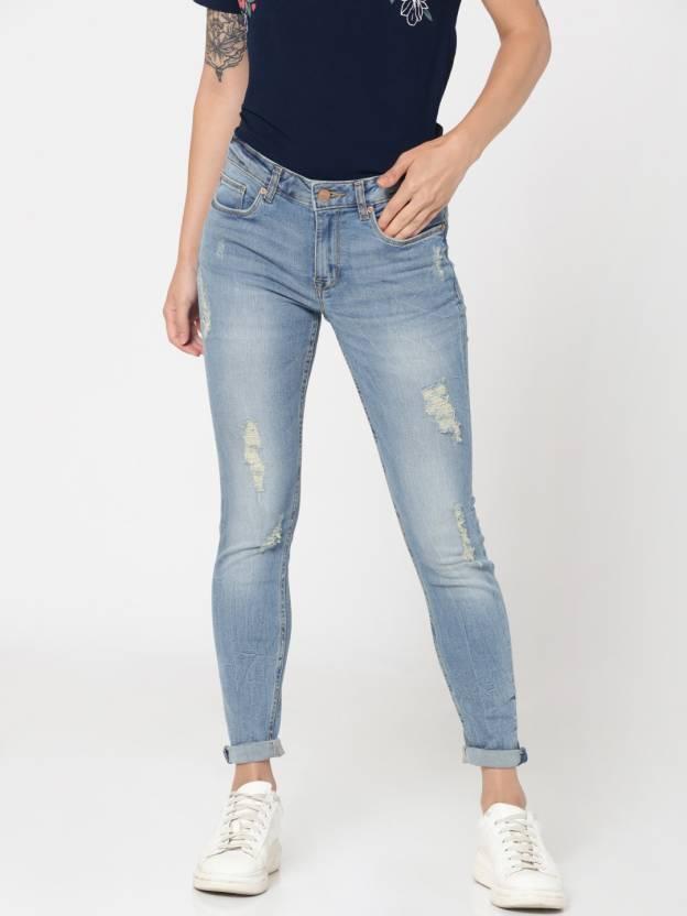 2ca491d56 Only Regular Women Blue Jeans - Buy Only Regular Women Blue Jeans Online at  Best Prices in India