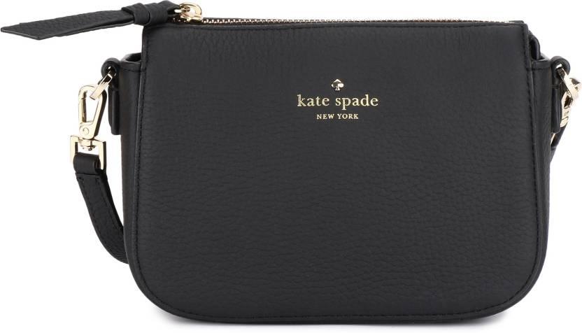 9b5c06cf7afb Kate Spade Women Casual Black Genuine Leather Sling Bag BLACK - Price in  India | Flipkart.com