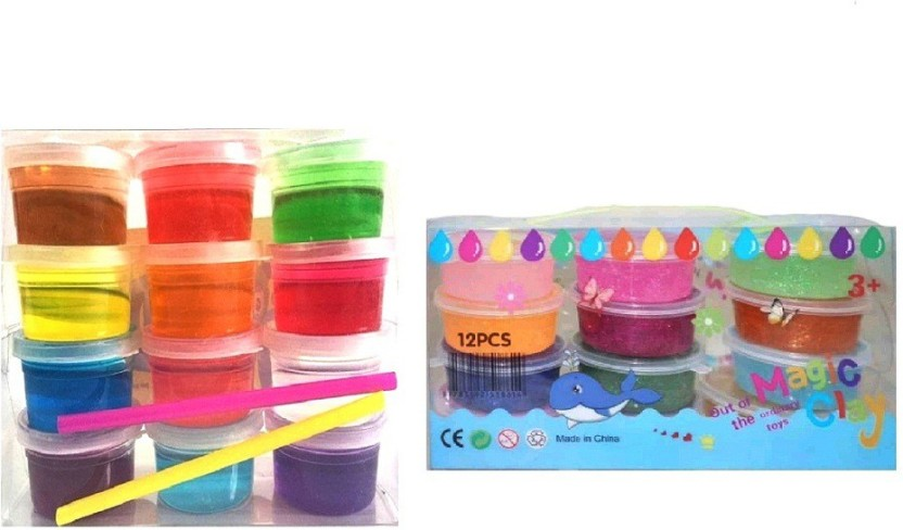 Never-Dry Extra Soft Kids Modeling Clay Multicolor 10 Pack Non-Toxic...