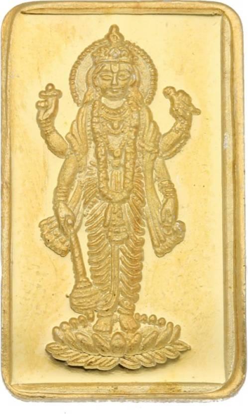 Jpearls 1 Gram 24kt Lord Vishnu Pure Gold Coin 24 9999 K G