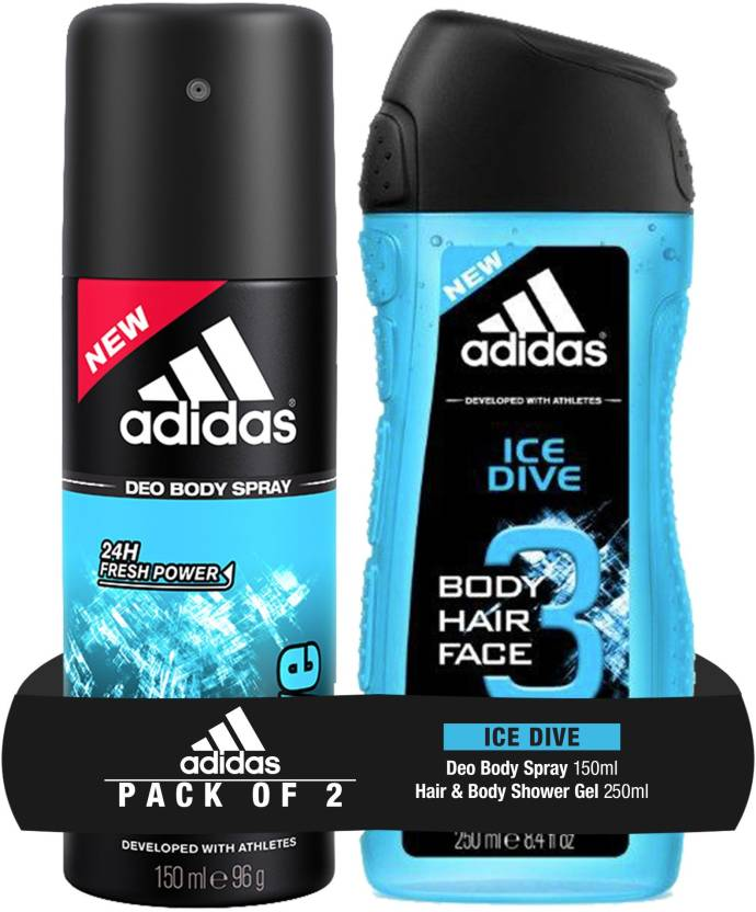 76ae4c3f4fef ADIDAS Ice Dive 2-in-1 Shower Gel   Ice Dive deo Price in India ...