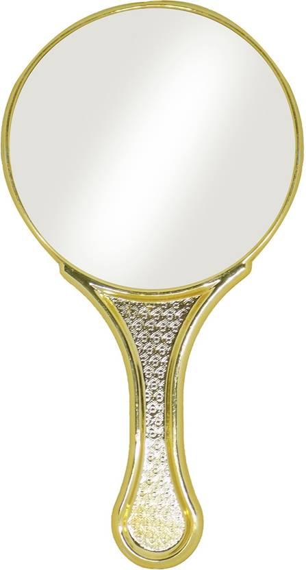 RAAYA Makeup Mirror With Handle For Women Birthday Gifts Girls Golden