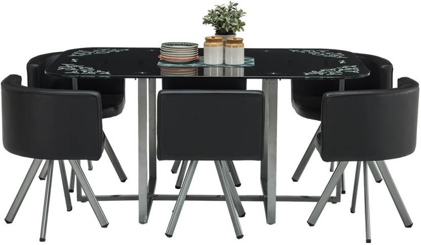 43b0fdadd Durian NEON A Metal 6 Seater Dining Set Price in India - Buy Durian ...