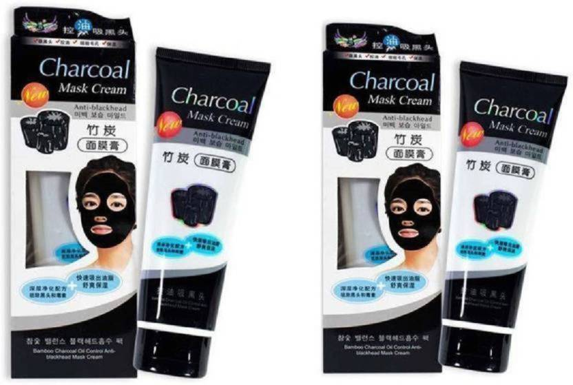 Shopimoz Charcoal Anti-Blackhead Suction Mask Cream (Pack of