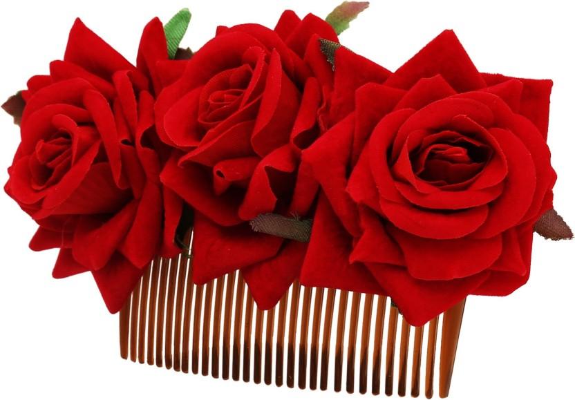 New Womens Rose Flower Hairpin Hair Clip Bride Brooch Wedding Hair Accessories