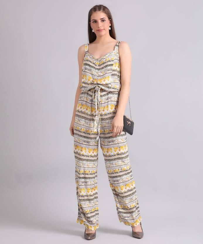 3ece1665e34 Biba Printed Women s Jumpsuit - Buy YELLOW Biba Printed Women s Jumpsuit  Online at Best Prices in India