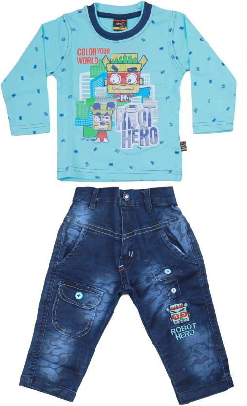 d5b26f4ab8 Little Hub Boys Party(Festive) T-shirt Jeans Price in India - Buy ...