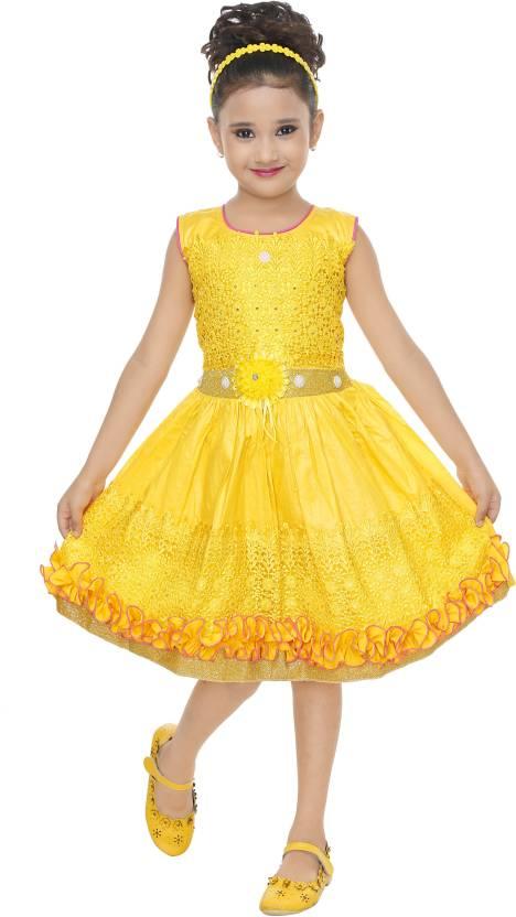 aa9723042c ULTRA TREND Girls Midi/Knee Length Festive/Wedding Dress Price in ...
