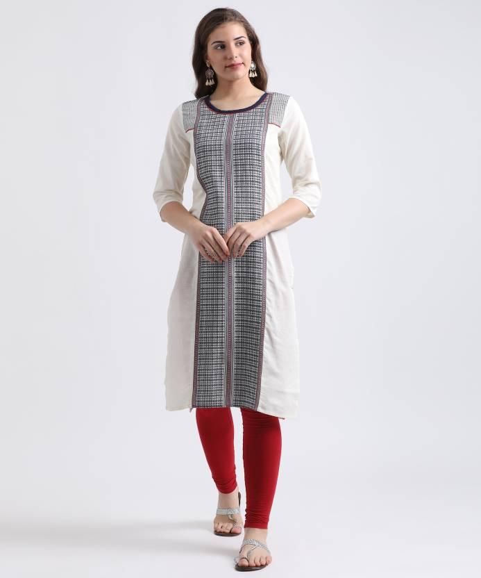 a028b53fef2 Aurelia Women Self Design Straight Kurta - Buy OFFWHITE Aurelia ...