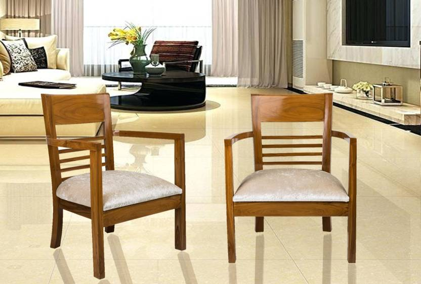 DZYN Furnitures Spring Gold Solid Wood Living Room Chair Finish Color