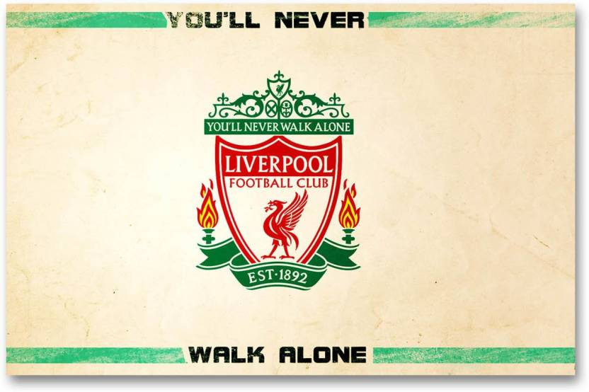 Liverpool Football Club Wall Poster Logo Team Quotes Hd