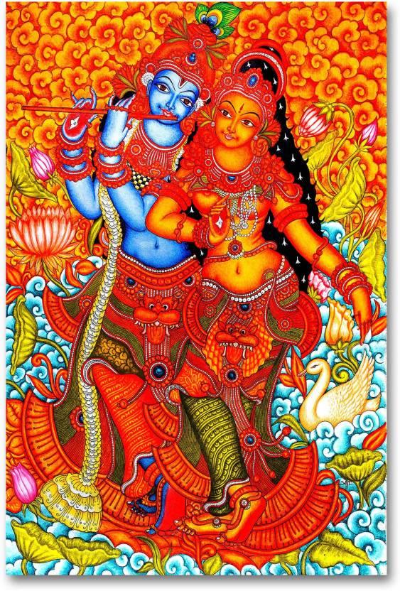 Wall Poster - Radha Krishna Love - Traditional - HD Quality Poster