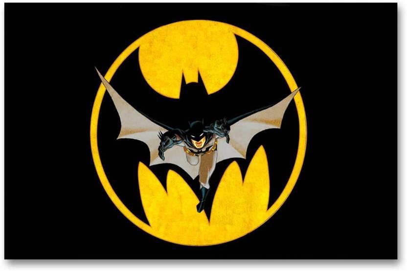 Wall Poster Batman Cool Logo Hd Quality Poster Paper Print