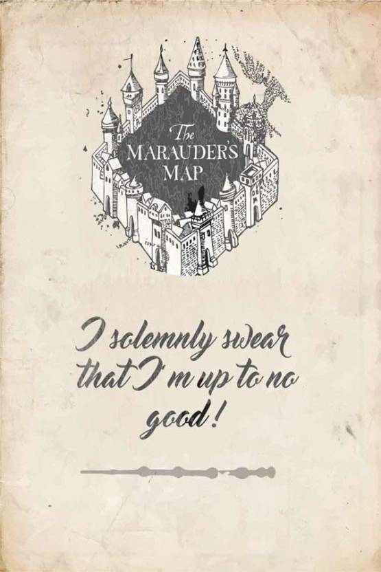 harry potter marauders map Poster Paper Print - Decorative posters ...