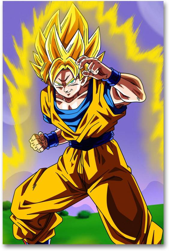 4f9682911ee Wall Poster - Dragon Ball Z - Goku - Children Cartoon Poster - HD Quality  Wall Poster Paper Print (18 inch X 12 inch, Rolled)