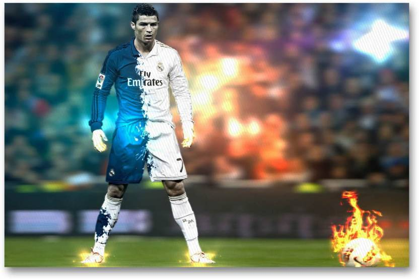 new styles b880a 8b102 Real Madrid C.F. Wall Poster - Cristiano Ronaldo - Fan Art ...