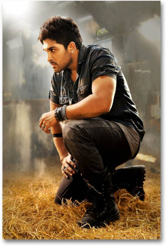 South Indian Actors Poster - Allu Arjun - HD Quality Wall Poster